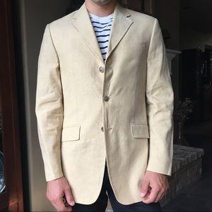 Banana Republic 3-button linen jacket